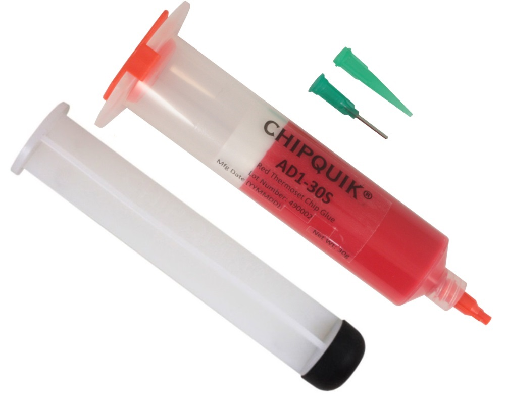 Thermoset Chip Glue (Red) - 30cc syringe 0