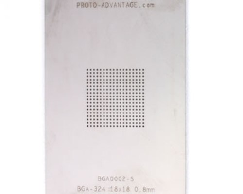 BGA-324 (0.8 mm pitch, 18 x 18 grid) Stainless Steel Stencil 0