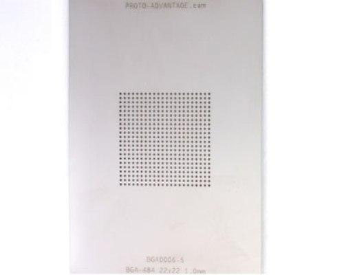 BGA-484 (1.0 mm pitch, 22 x 22 grid) Stainless Steel Stencil 0