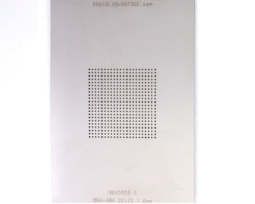 BGA-484 (1.0 mm pitch, 22 x 22 grid) Stainless Steel Stencil 0
