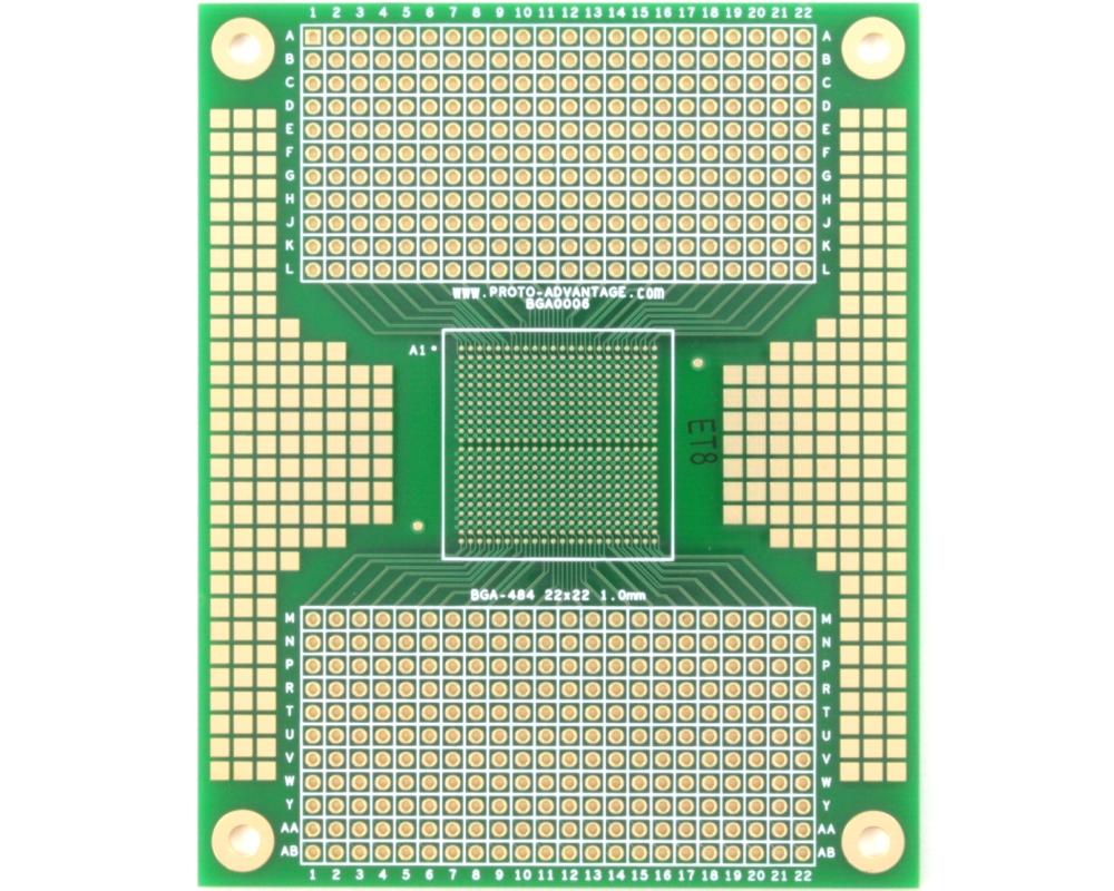 BGA-484 SMT Adapter (1.0 mm pitch, 22 x 22 grid) 0