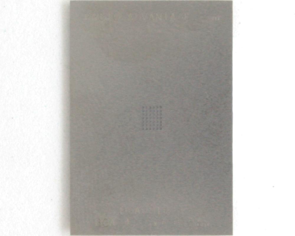 BGA-42 (0.5 mm pitch, 6 x 7 grid) Stainless Steel Stencil 0