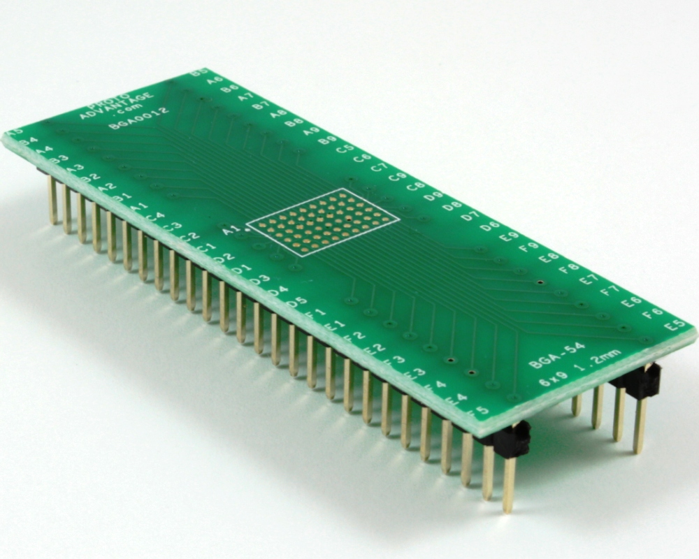 BGA-54 to DIP-54 SMT Adapter (1.2mm pitch, 6 x 9 grid) 0