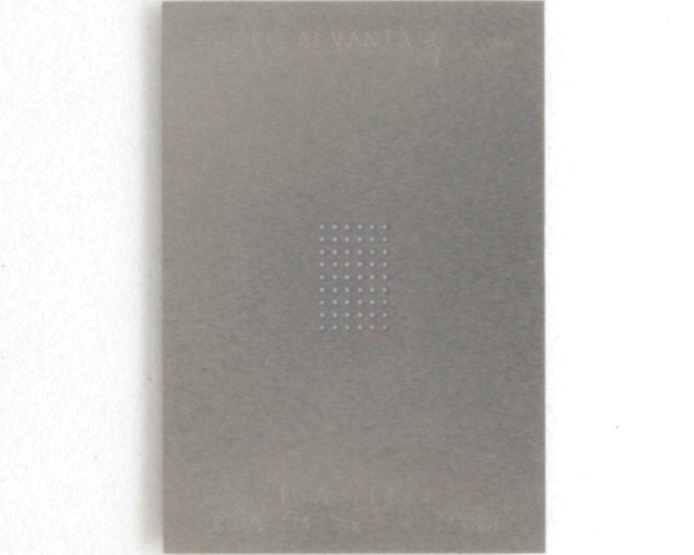 BGA-54 (0.75 mm pitch, 6 x 9 grid) Stainless Steel Stencil 0