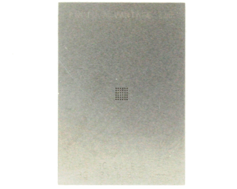 BGA-36 (0.4 mm pitch, 6 x 6 grid) Stainless Steel Stencil 0