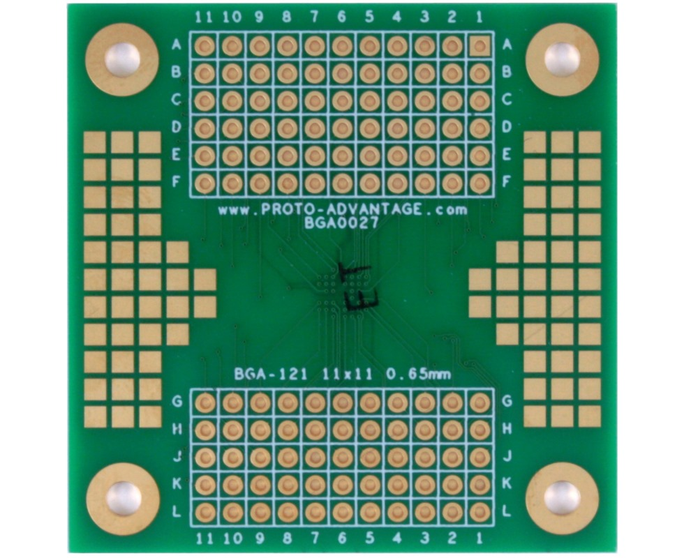 BGA-121 SMT Adapter (0.65mm pitch, 11 x 11 grid) 1