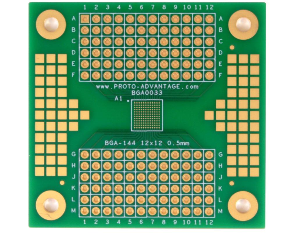 BGA-144 to PGA-144 SMT Adapter (0.5mm pitch, 12 x 12 grid) 0