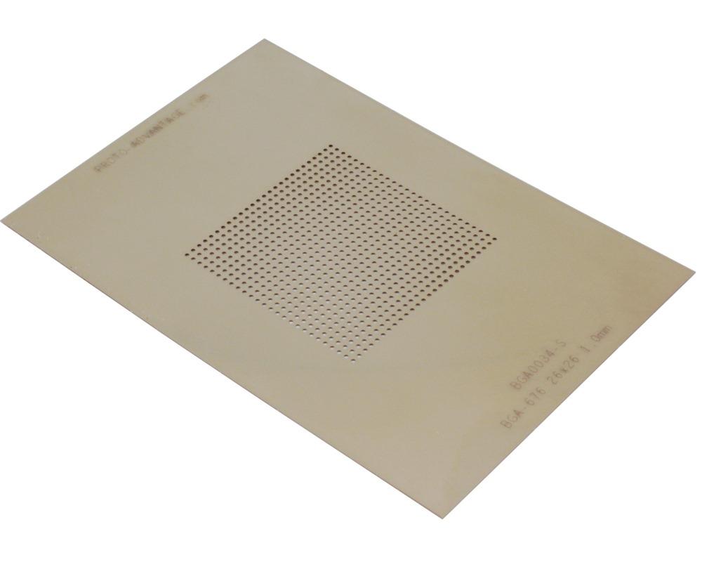 BGA-676 (1.0 mm pitch, 26 x 26 grid) Stainless Steel Stencil 0