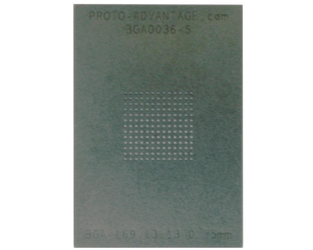 BGA-169 (0.75mm pitch, 13x13 grid) Stainless Steel Stencil 0