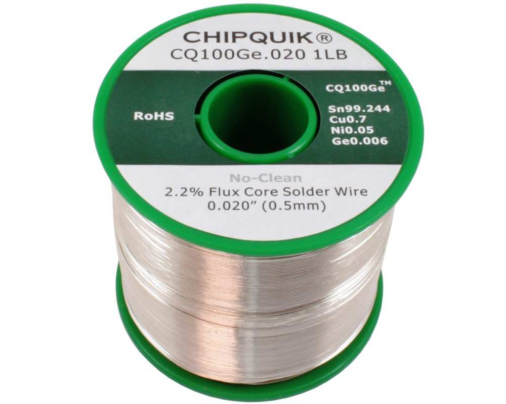 Germanium Doped Solder Wire Sn/Cu0.7/Ni0.05/Ge0.006 No-Clean .020 1lb 0