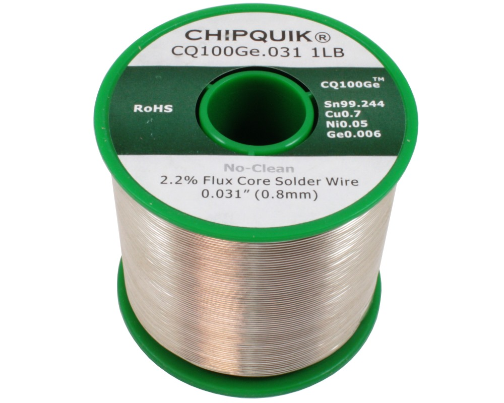 Germanium Doped Solder Wire Sn/Cu0.7/Ni0.05/Ge0.006 No-Clean .031 1lb 0
