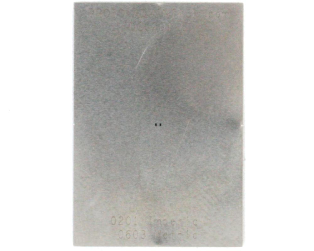 Discrete 0201 Stainless Steel Stencil 0