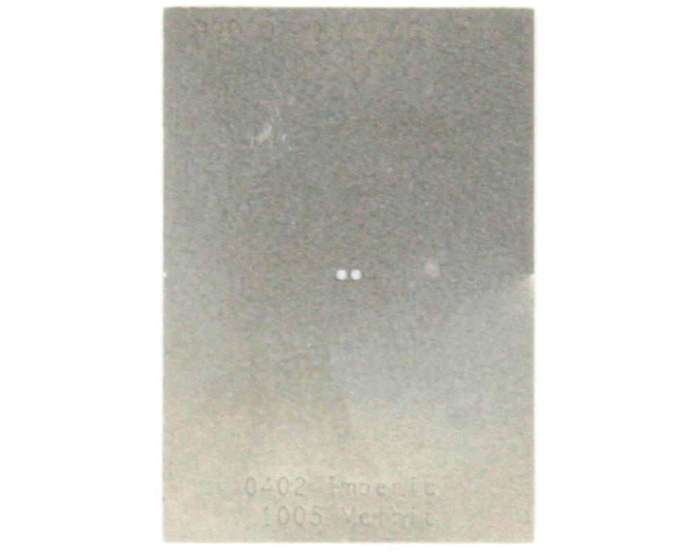 Discrete 0402 Stainless Steel Stencil 0
