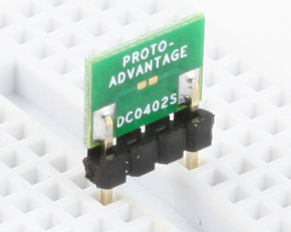 Discrete 01005 / 0201 / 0402 to 300mil TH Adapter - SM pins (10 pack) 0
