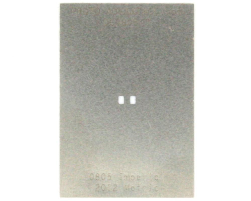 Discrete 0805 Stainless Steel Stencil 0