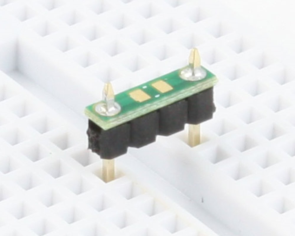 Discrete 0805 to 300mil TH Adapter - TH pins (10 pack) 0