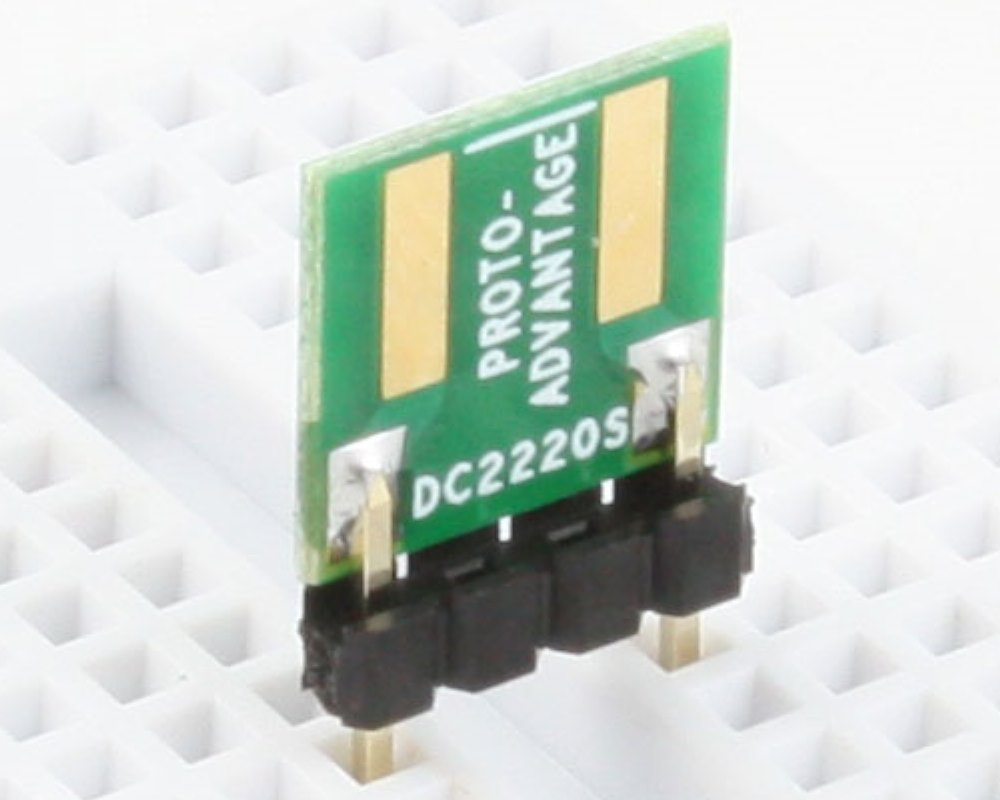 Discrete 2220 to 300mil TH Adapter - SM pins (10 pack) 0