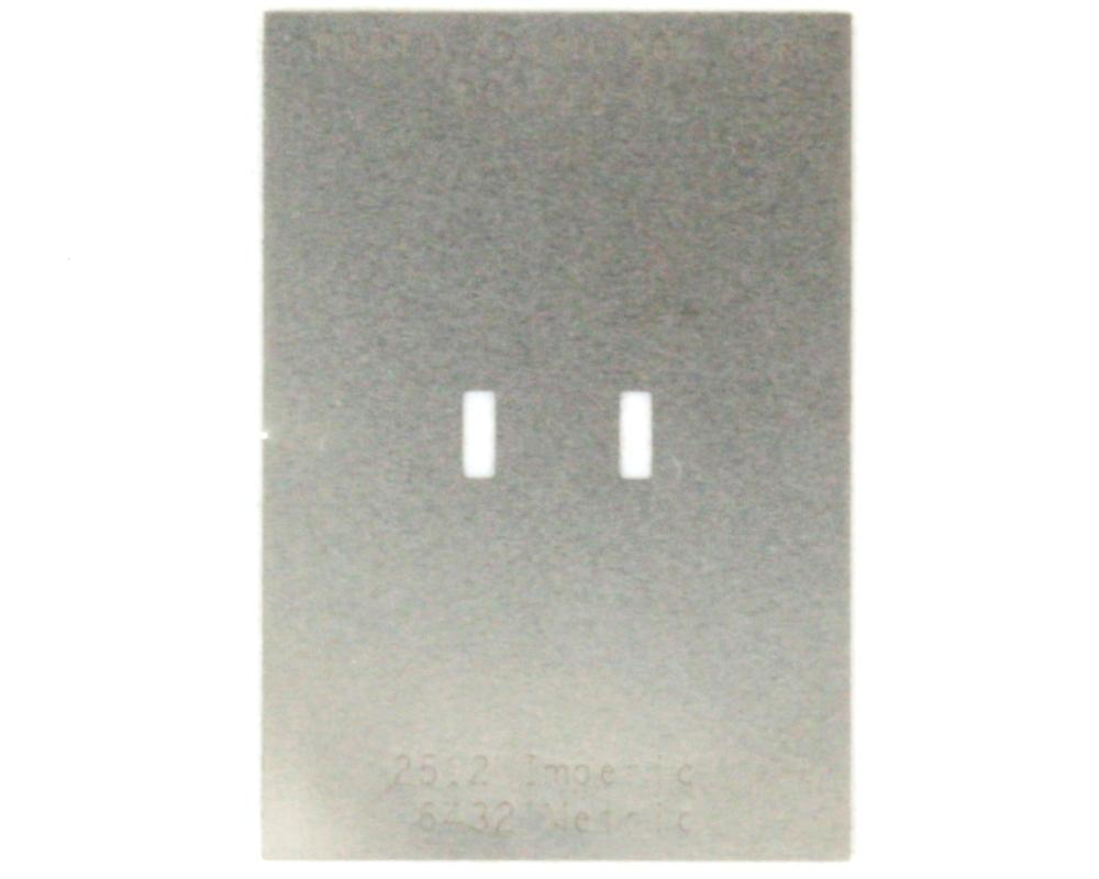 Discrete 2512 Stainless Steel Stencil 0