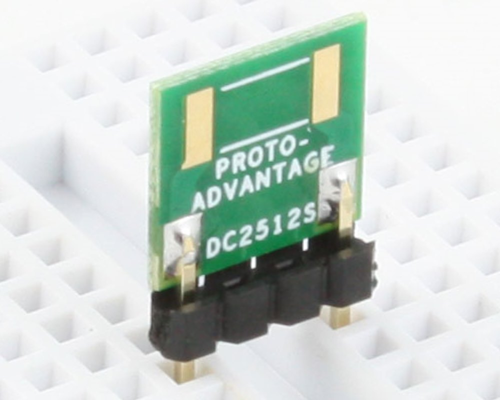 Discrete 2512 to 300mil TH Adapter - SM pins (10 pack) 0