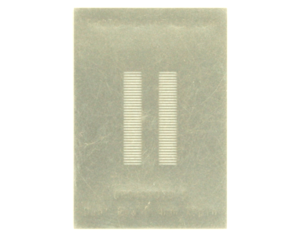 Dual Row 0.4mm Pitch 70-Pin Connector Stencil 0