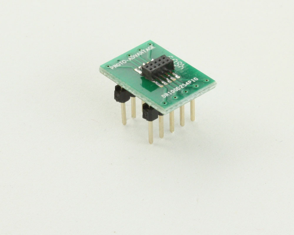Dual Row 1.00mm Pitch 10-Pin Female Header to DIP-10 Adapter 0