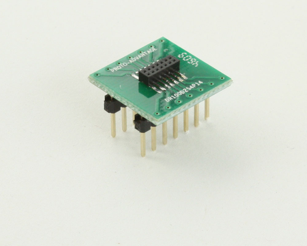 Dual Row 1.00mm Pitch 14-Pin Female Header to DIP-14 Adapter 0
