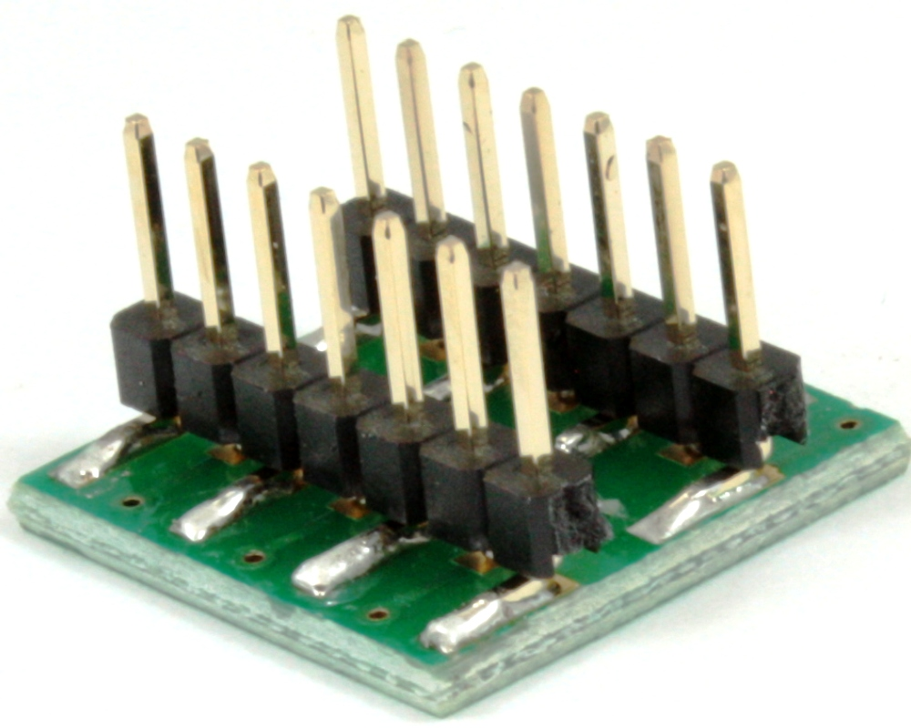 Dual Row 1.00mm Pitch 14-Pin to DIP-14 Adapter 1