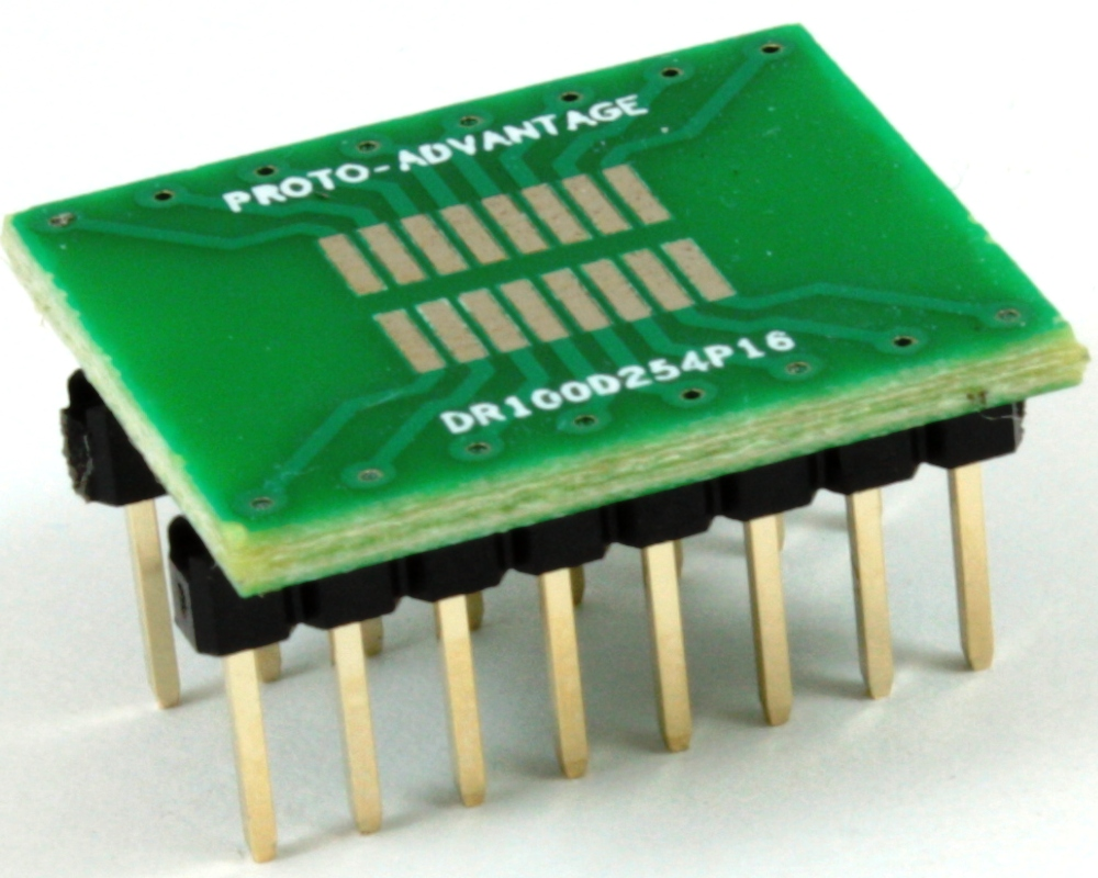 Dual Row 1.00mm Pitch 16-Pin to DIP-16 Adapter 0
