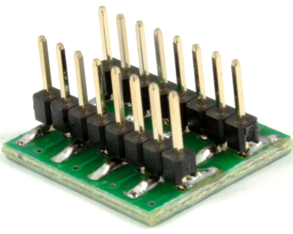 Dual Row 1.00mm Pitch 16-Pin to DIP-16 Adapter 1