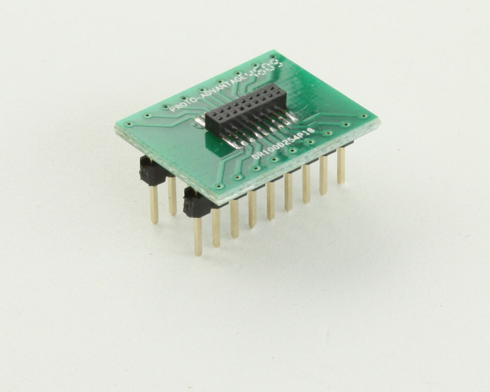 Dual Row 1.00mm Pitch 18-Pin Female Header to DIP-18 Adapter 0