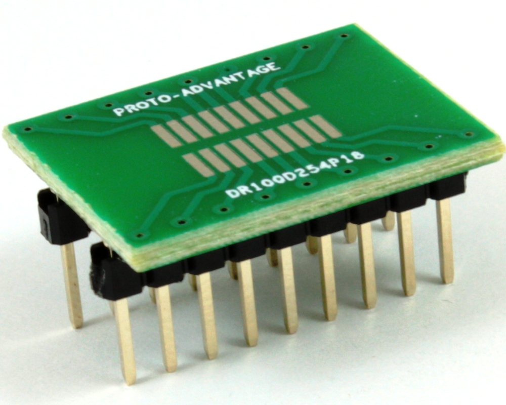 Dual Row 1.00mm Pitch 18-Pin to DIP-18 Adapter 0