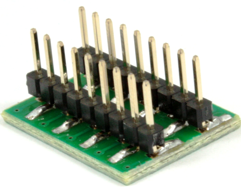 Dual Row 1.00mm Pitch 18-Pin to DIP-18 Adapter 1