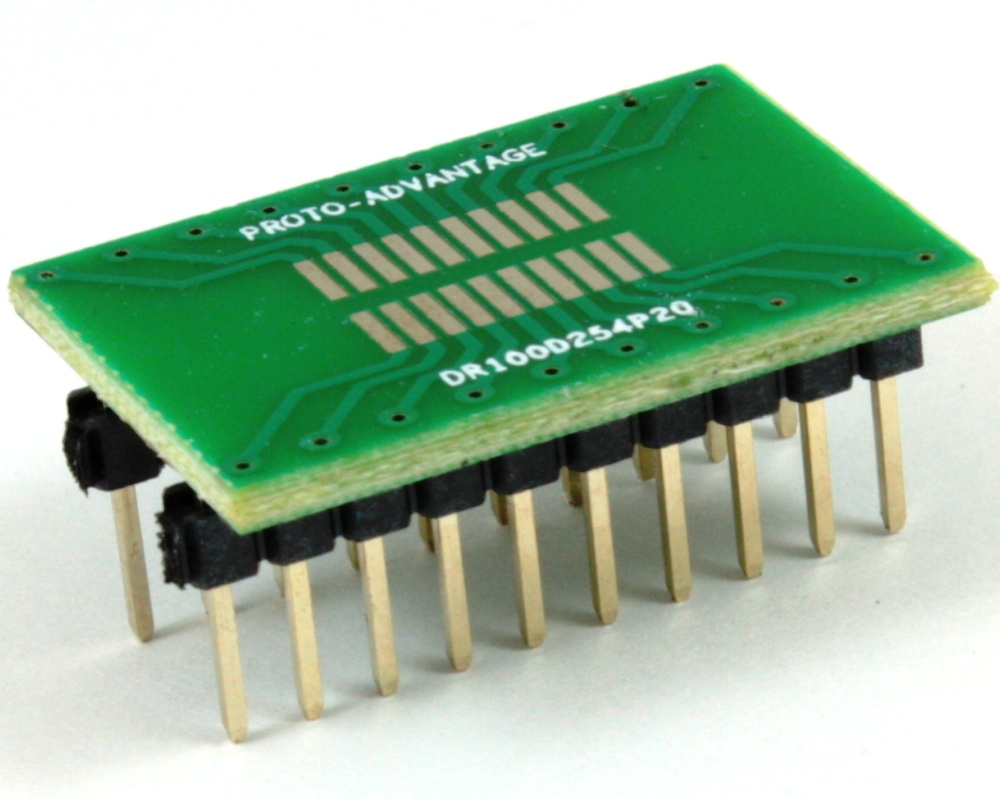 Dual Row 1.00mm Pitch 20-Pin to DIP-20 Adapter 0