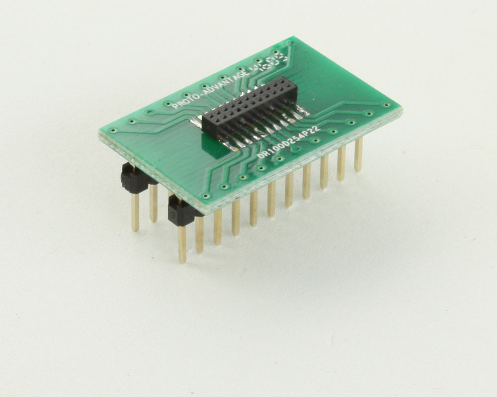 Dual Row 1.00mm Pitch 22-Pin Female Header to DIP-22 Adapter 0