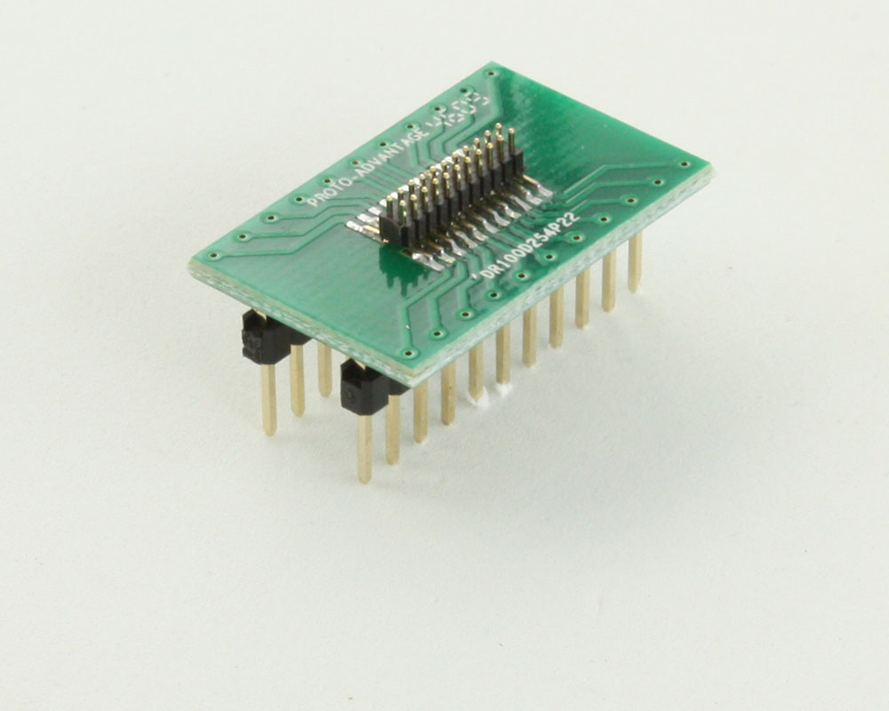 Dual Row 1.00mm Pitch 22-Pin Male Header to DIP-22 Adapter 0