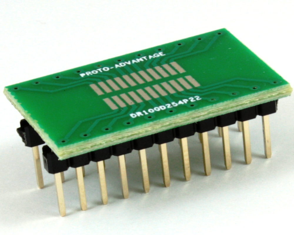 Dual Row 1.00mm Pitch 22-Pin to DIP-22 Adapter 0