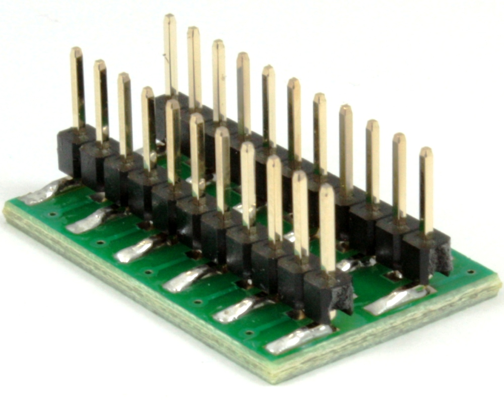Dual Row 1.00mm Pitch 22-Pin to DIP-22 Adapter 1