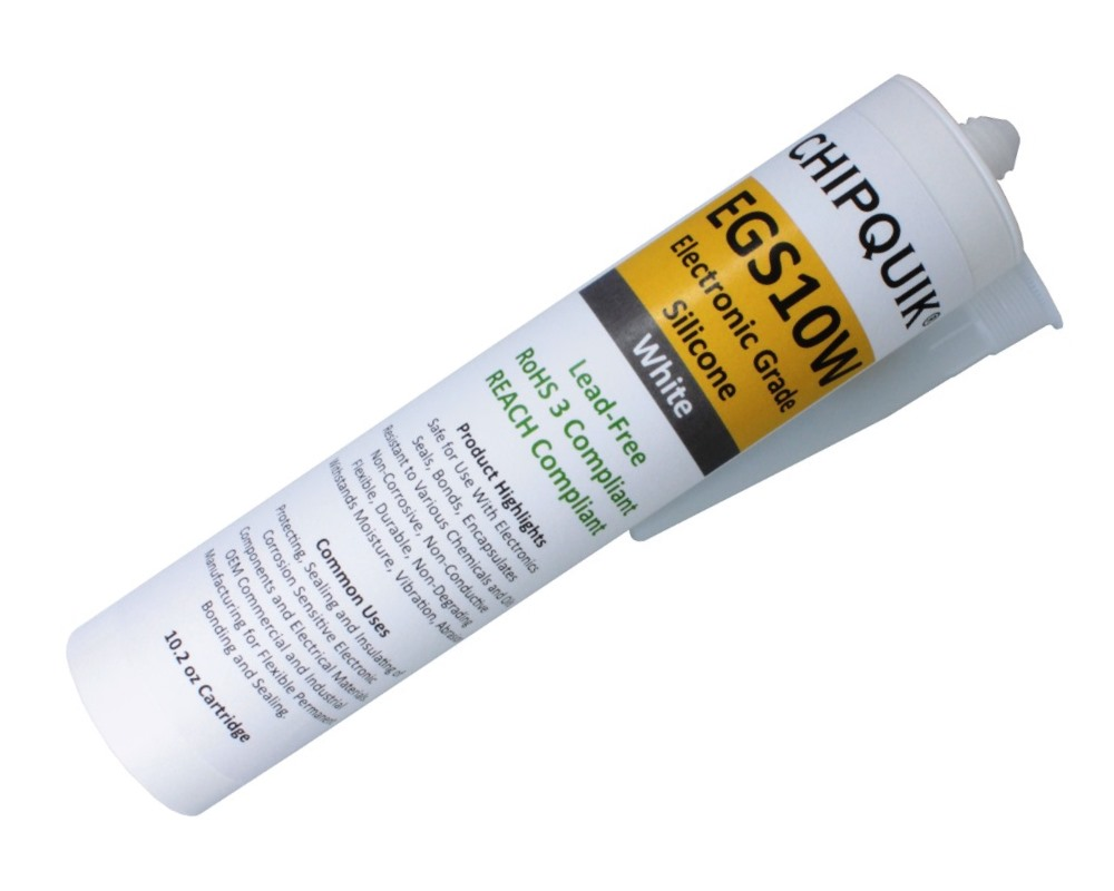 Electronics Grade Silicone Adhesive Sealant (White) 10.2oz Cartridge 0