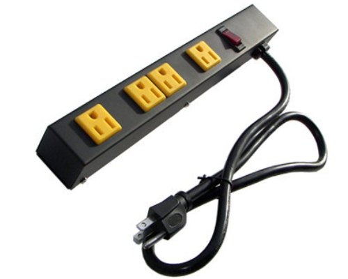 12 inch - 4 Outlet Metal Power Strip 0