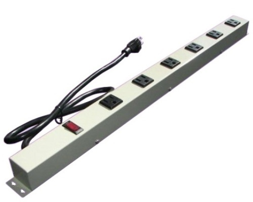 24 inch - 6 Outlet Power Strip - Beige 0