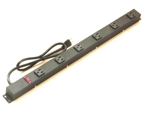 24 inch - 6 Vertical Metal Power Strip 0