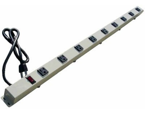 36 inch - 9 Outlet Power Strip - Beige 0
