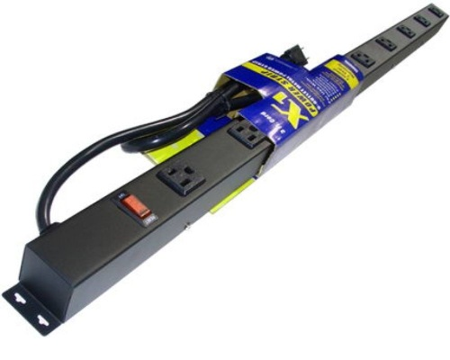 36 inch - 9 Vertical Outlet Metal Power Strip 0