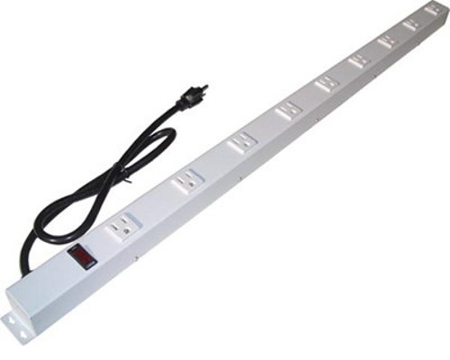 36 inch - 9 Outlet Metal Power Strip - White 0