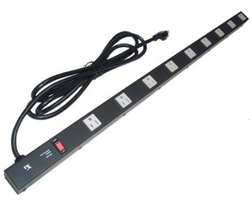 36 inch - 9 Outlet Metal Power Strip - Surge Protector 0