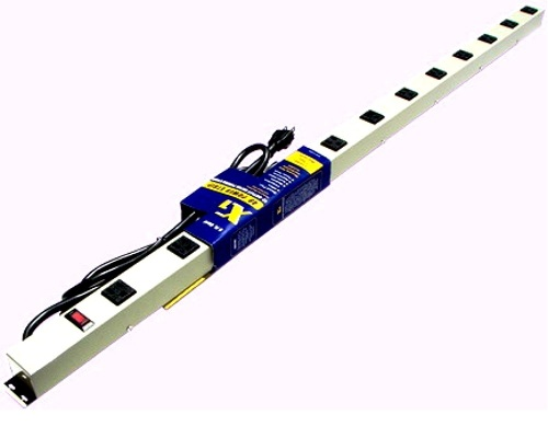 48 inch - 12 Outlet Power Strip - Beige 0