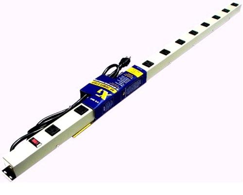 48 inch - 12 Outlet Power Strip - Beige 0