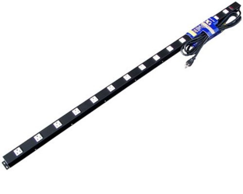 60 inch - 15 Outlet Metal Power Strip 0