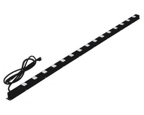 60 inch - 15 Outlet Metal Power Strip with Surge Protector-Black 0