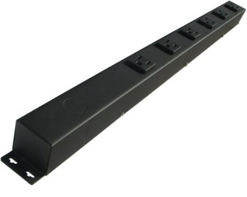 24 inch - 6 Outlet Hardwired Power Strip  0